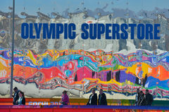 Olympic superstore in Sochi Royalty Free Stock Images
