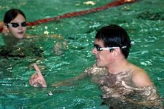 Olympic swimming champion Alexander Popov Royalty Free Stock Photography