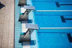 Olympic swimming pool Royalty Free Stock Photos
