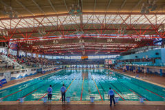 Olympic Swimming Pool Indoors Durban Stock Images