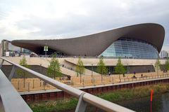 The Olympic Park Swimming Pool. The Queen Elizabeth Olympic Park swimming pool at Stratford, London Stock Photography