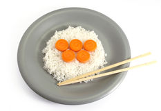 Olympic symbol. Food arranged in such a way to form the olympic rings Royalty Free Stock Image