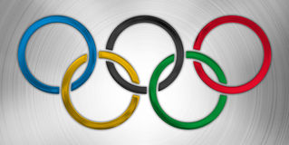 Olympic symbol, graphic elaboration Royalty Free Stock Photos