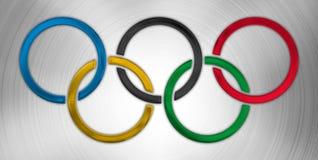 Olympic symbol, graphic elaboration Royalty Free Stock Photos