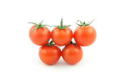 Olympic symbol made with cherry tomatoes Royalty Free Stock Image