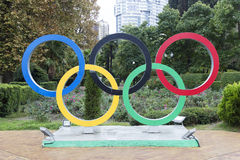 The Olympic symbol Stock Photos