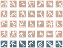 Olympic Symbols. The Games have always brought people together in peace to respect universal moral principles Stock Image