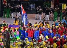 Olympic team Cuba marched into the Rio 2016 Olympics opening ceremony Royalty Free Stock Image
