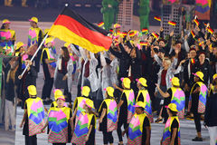 Olympic team Germany marched into the Rio 2016 Olympics opening ceremony Stock Photo