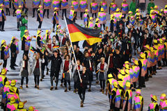 Olympic team Germany marched into the Rio 2016 Olympics opening ceremony Stock Photography