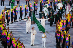 Olympic team Saudi Arabia marched into the Rio 2016 Olympics opening ceremony Royalty Free Stock Images