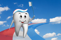Olympic tooth Stock Photo