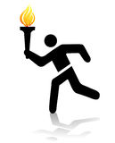 Olympic torch. Track and field sign, olympic torch Royalty Free Stock Photos