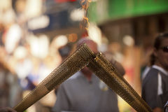 Olympic Torch 2012. On a street of Chester Stock Photos