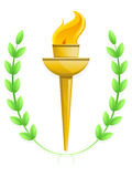 Olympic Torch. Illustration of an  olympic style torch Stock Images