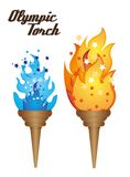 Olympic torch. With flame, vector illustration Stock Photo