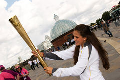 Olympic torch Royalty Free Stock Images