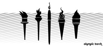Olympic torch Stock Image