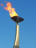 Olympic torch. Remembering Barcelona'92 anniversary stock photo