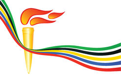 Olympic torch Stock Images
