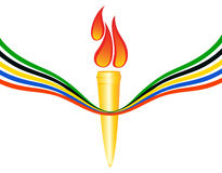 Olympic torch Stock Photos