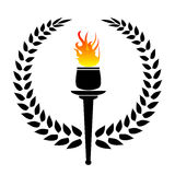 Olympic torch. The olympic wreath with torch vector Illustrations vector illustration