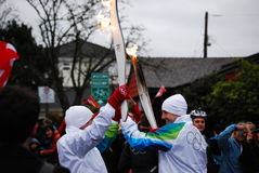 Olympic Torch Bearer Stock Photo