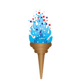 Olympic torch with blue flame. Illustration Royalty Free Stock Photos