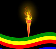 Olympic Torch and flag Royalty Free Stock Image