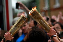 Olympic torch. From the 2012 Olympic games torch relay Royalty Free Stock Photos