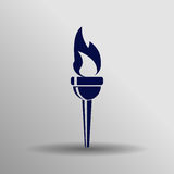 Olympic torch icon Royalty Free Stock Images
