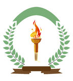 Olympic Torch. An illustration of olympic fire torch on white background Royalty Free Stock Images