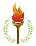 Olympic Torch. An illustration of olympic fire torch on white background Stock Image