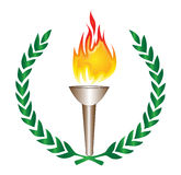 Olympic Torch. An illustration of olympic fire torch on white background Stock Photos