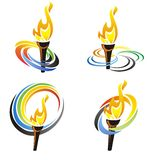 Olympic torch illustration - vector Stock Image