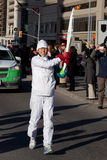 Olympic torch relay. Toronto welcomes Olympic torch. North York, Yonge street Stock Photo
