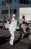 Olympic torch relay. Toronto welcomes Olympic torch. North York, Yonge street Stock Image