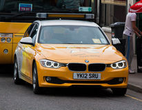 Olympic Torch Relay. Vehicle in Inverness, Scotland, June 11 2012 Stock Images
