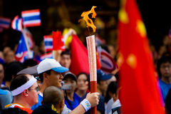 Olympic Torch Relay. In Bangkok Thailand on April 19th, 2008 Stock Image