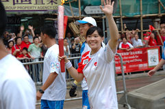 Olympic Torch Relay Royalty Free Stock Photography
