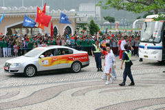Olympic torch relay. On May 3, 2008 in Macau, China Stock Images