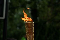 Olympic Torch. At the torch relay Stock Photo