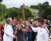 Olympic Torch Relay Bakewell. In Derbyshire Stock Photos