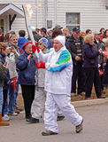 Olympic torch relay canada Stock Image