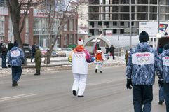 Olympic torch relay in Ekaterinburg, Russia Stock Photography