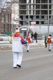 Olympic torch relay in Ekaterinburg, Russia Royalty Free Stock Images