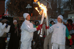 The Olympic Torch Relay, Georgetown, Halton Hills Stock Photos