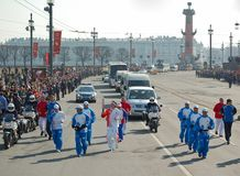 Olympic Torch Relay Maksim Marinin Stock Photo