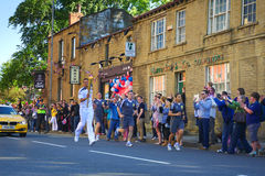 Olympic torch relay runner, Headingley, Leeds, UK Stock Image