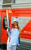 Olympic torch relay in Sochi Royalty Free Stock Images